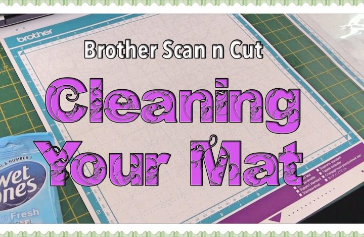 cleaning your mat on the scanncut