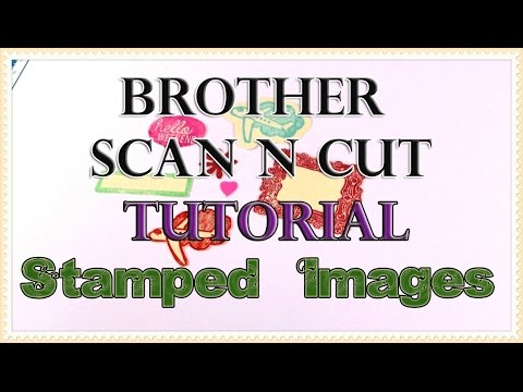 Creating Die Cuts from Stamped Images on the ScanNCut Machine