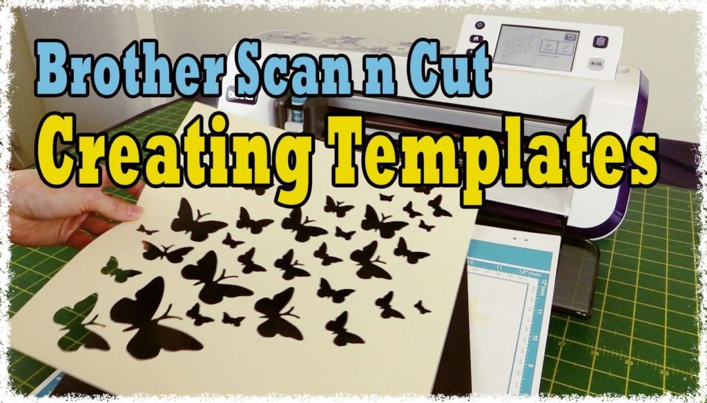 Creating templates with the ScanNCut