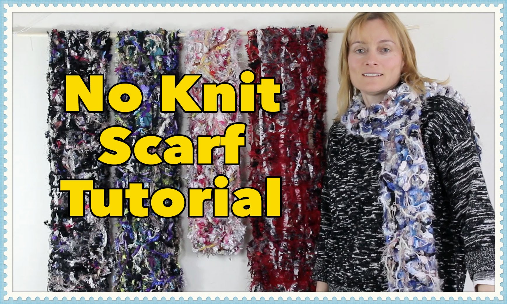 EASY No-Knit Scarf Tutorial: Soft and Cuddly
