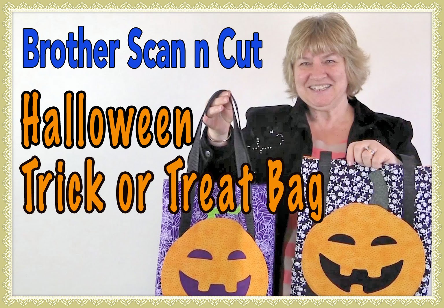 Brother Scan n Cut: Halloween Trick or Treat Bag