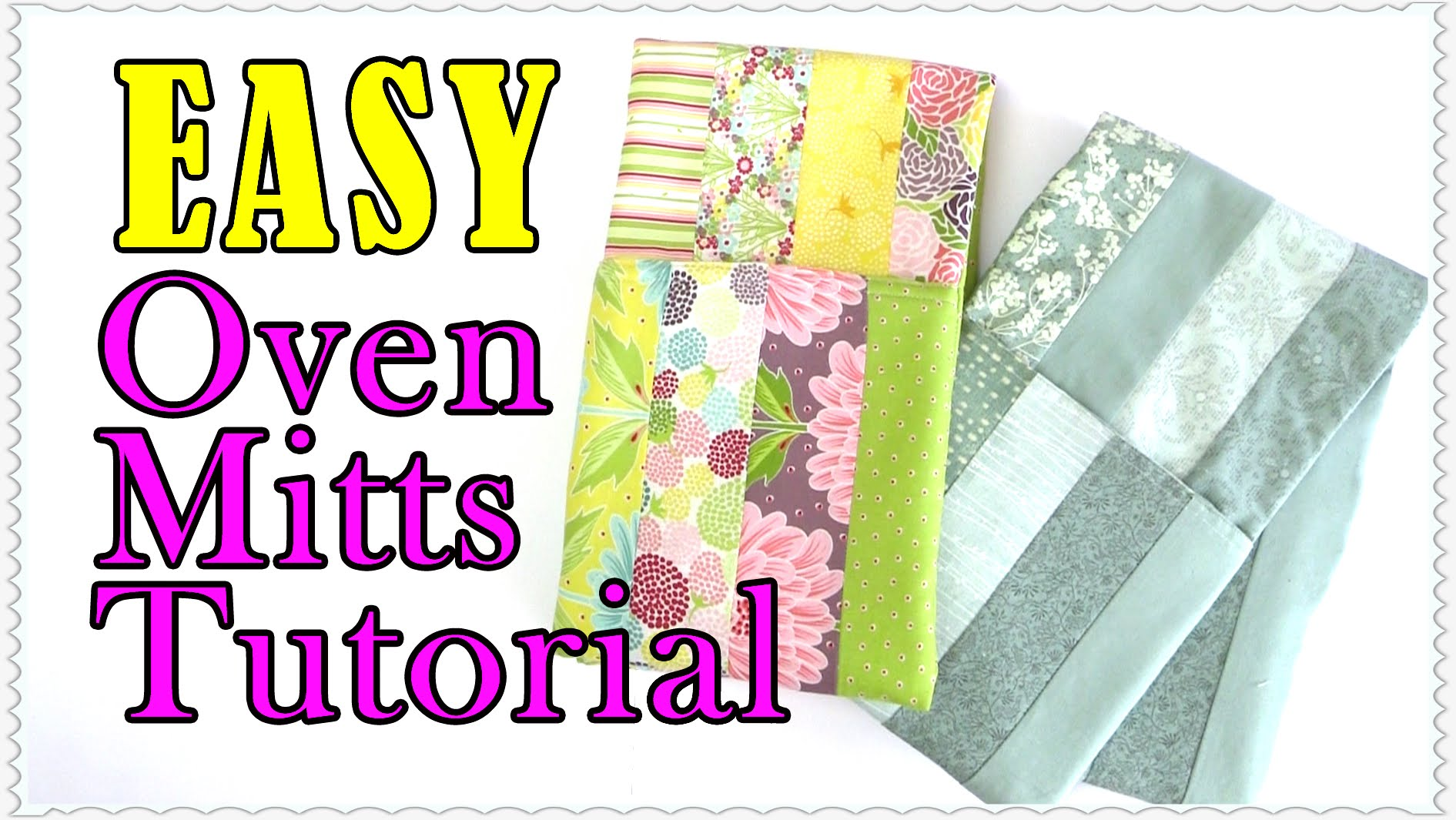 Easy Oven Mitt Tutorial: Made with 8 Moda Jelly Roll Strips
