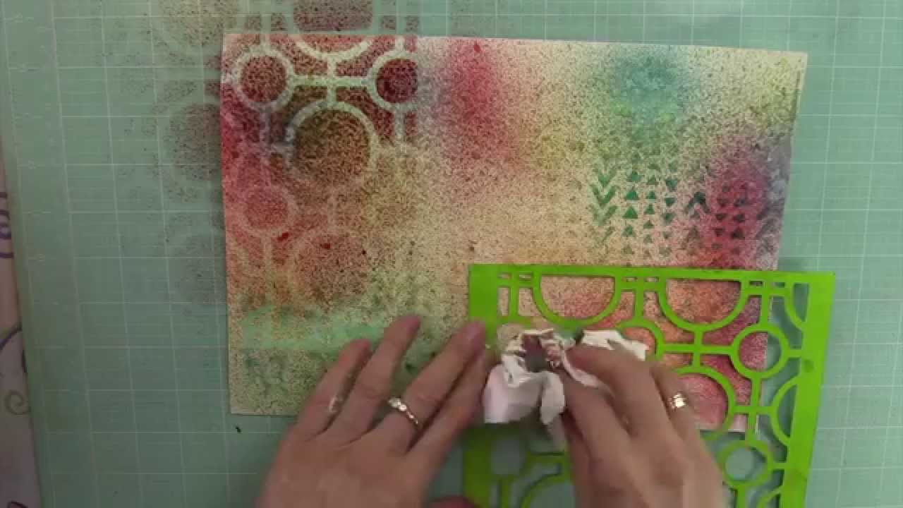 Art Journal Tutorial – Background Ideas: #1 Using Ink Sprays