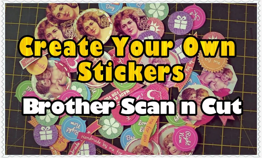 create your own stickers using ScanNCut