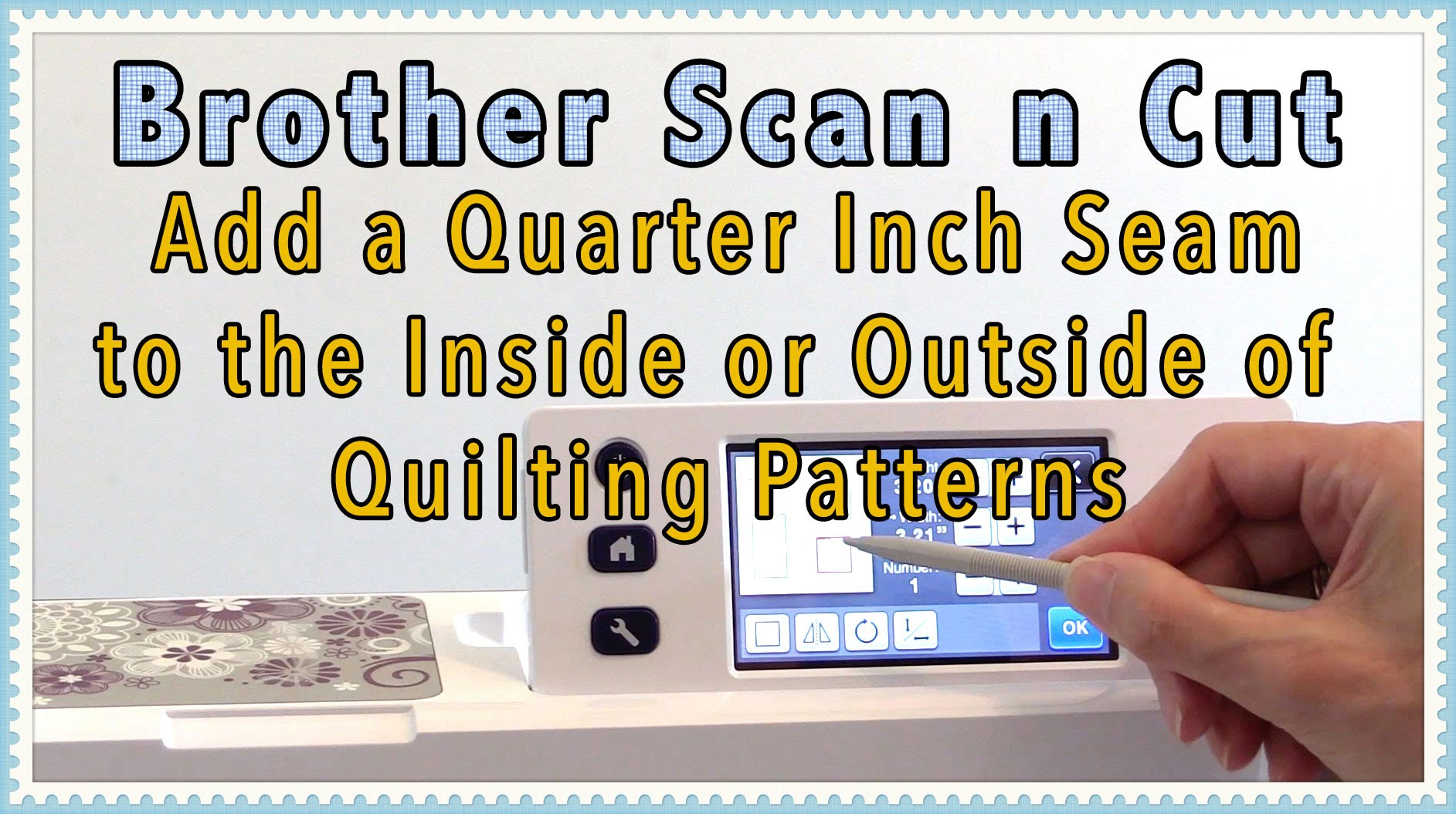 quilting on the scanncut