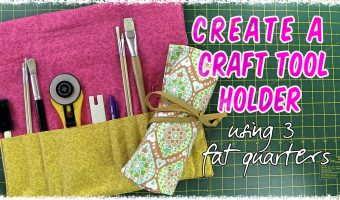 craft tool holder tutorial - easy sewing project