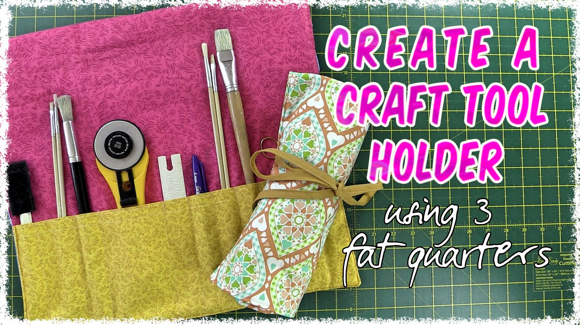 Easy to Make Sewing/Craft Tools Roll-up Holder Using 3 Fat Quarters