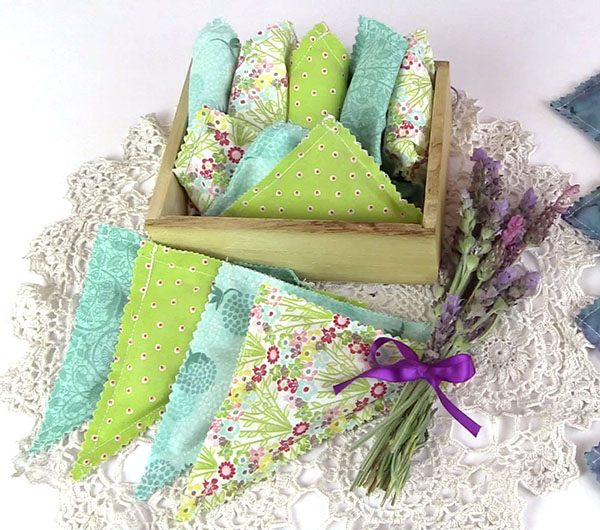 lavender sachet from layer cake squares