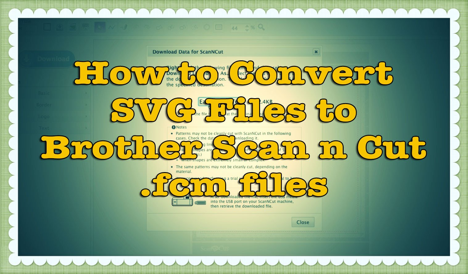 how to convert SVG files to Scan n Cut FCM files