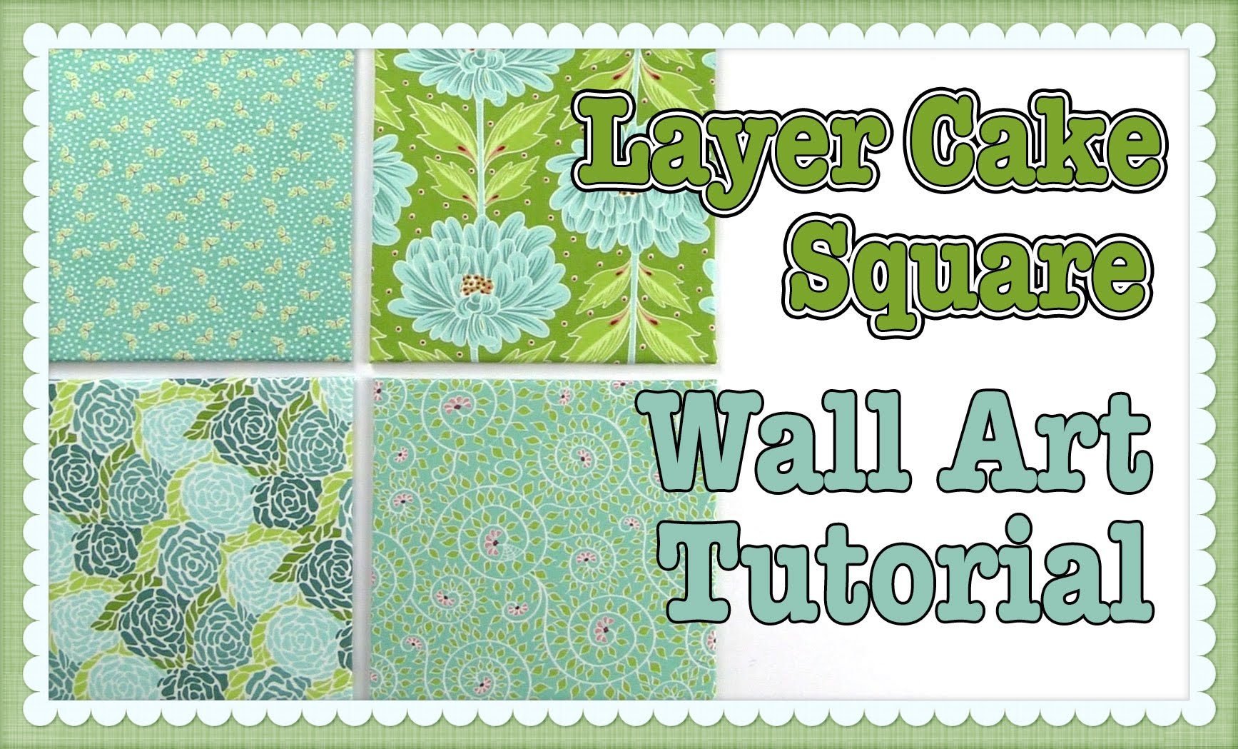 layer cake wall art - no sewing required