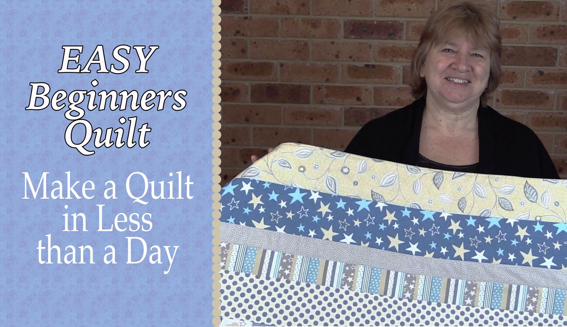 Quilting for Beginners - The Easiest Quilt Ever - Alanda Craft : easiest quilt ever - Adamdwight.com