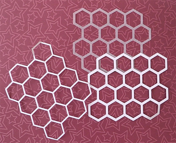 Brother Scan n Cut - Honeycomb Stencil