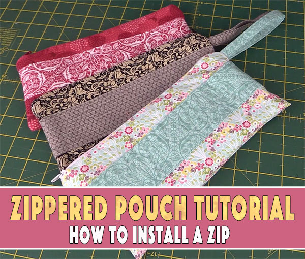 Easy Beginners Zippered Pouch Tutorial