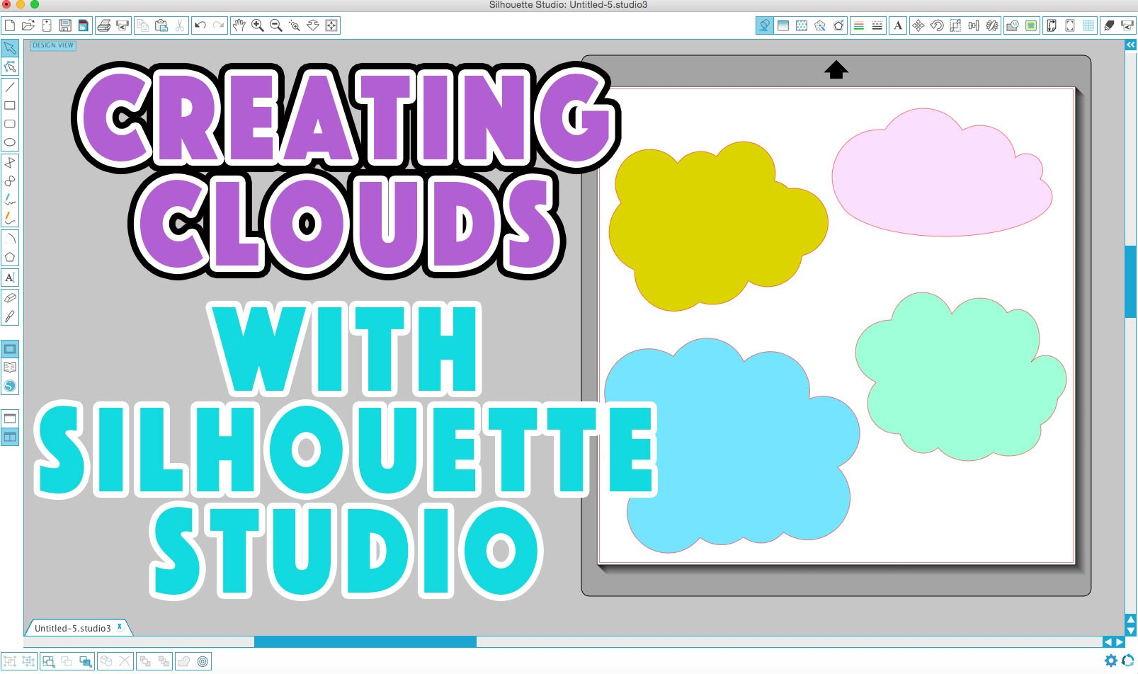 Silhouette Studio Tutorial: Creating Cloud Shapes