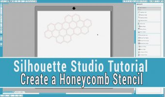 Silhouette Studio Tutorial: Learn How to Create a Honeycomb Stencil