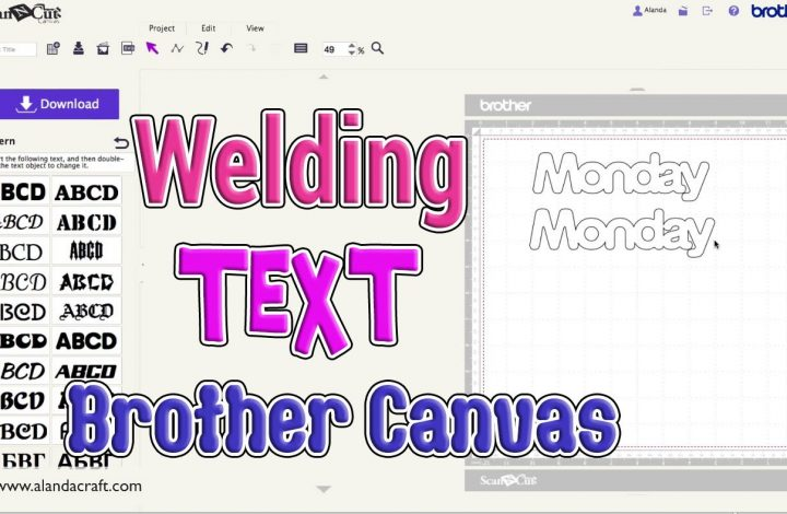 welding text using Canvas Workspace tutorial