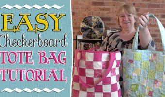 Checkerboard (Bargello) Tote Bag Tutorial