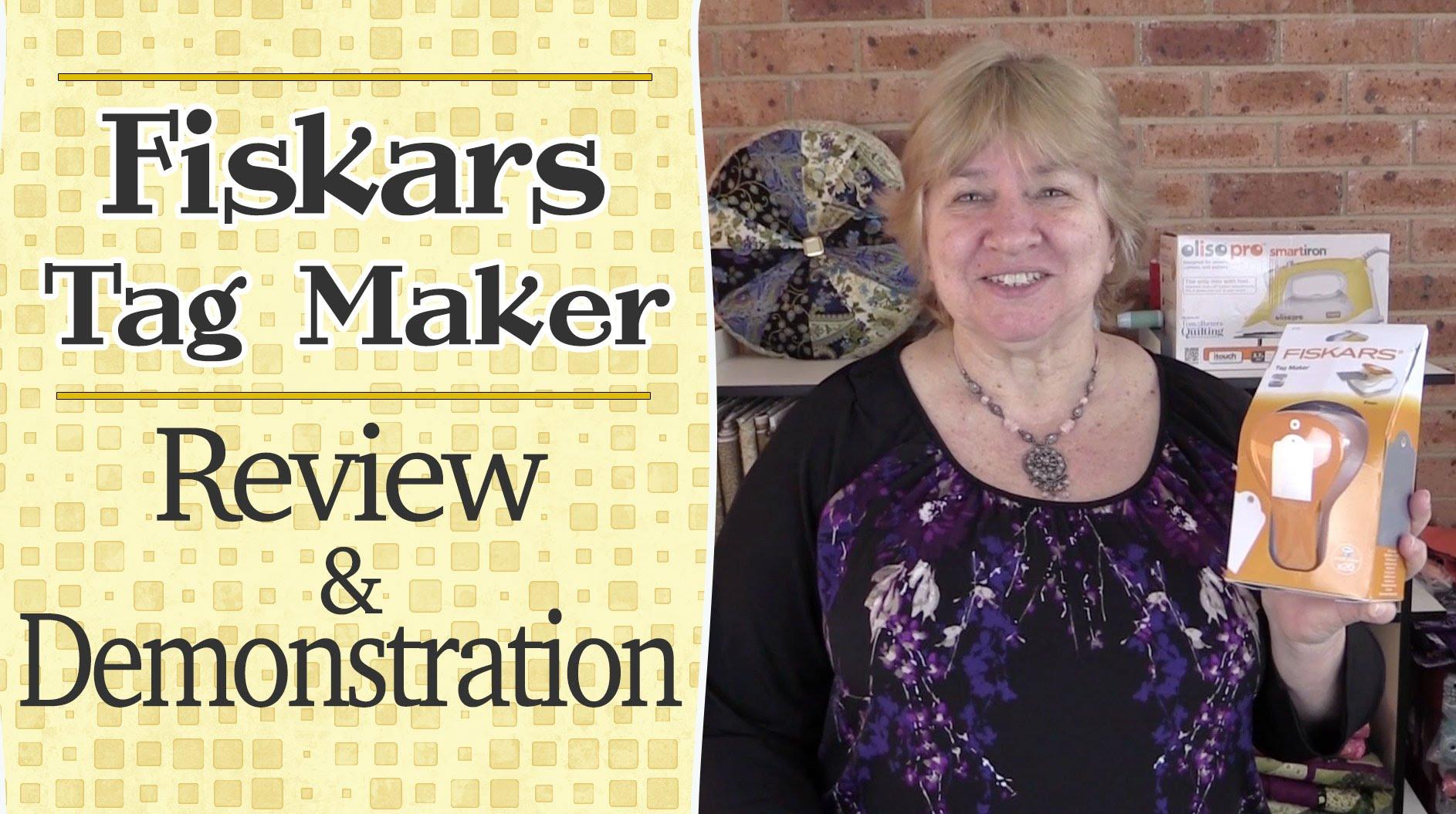 Crafty Tools n Tips: Fiskars Tag Maker – Review & Demonstration