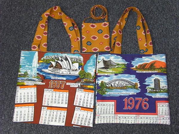 Pat's 3 Tea Towel Tote Bags and Mobile Bag