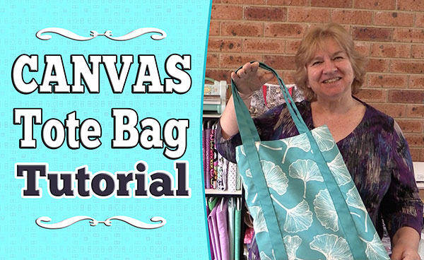 DIY Canvas Tote Bag Tutorial