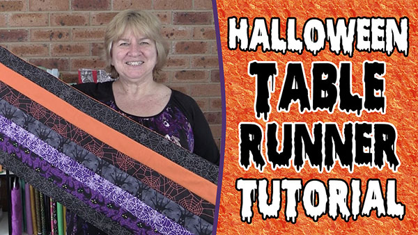 The 20 minute halloween table runner tutorial alanda craft for 10 minute table runner with batting