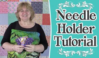 fabric scrap buster, needle holder tutorial,