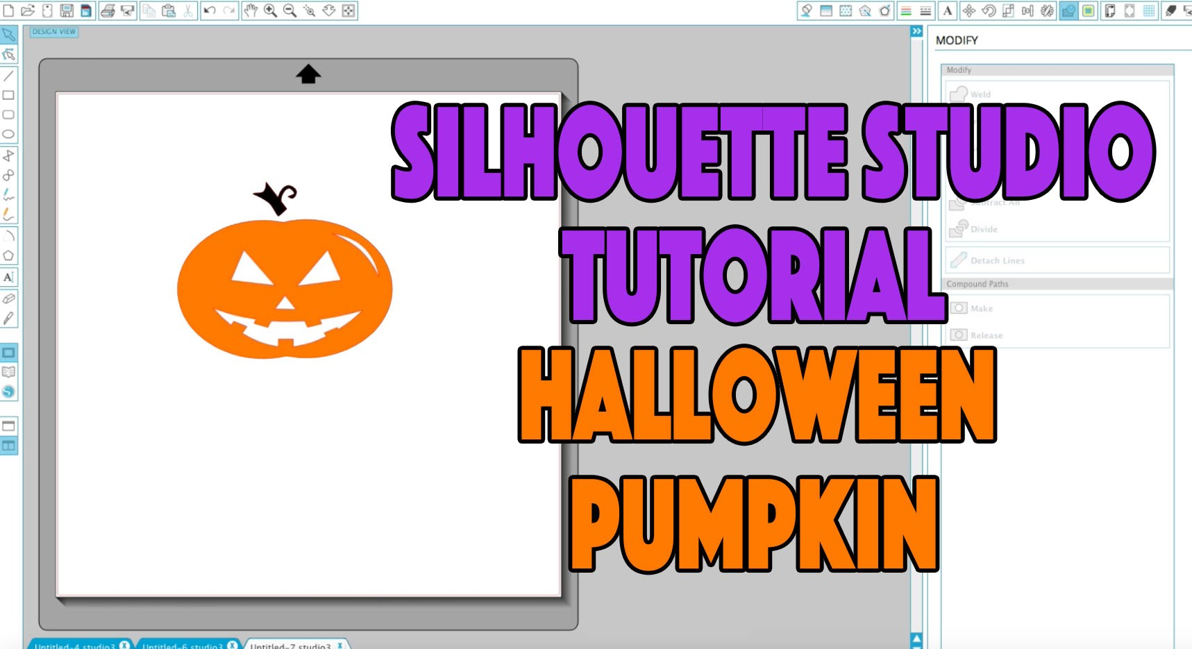 Silhouette Studio Tutorial: Halloween Pumpkin Project