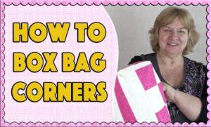 Tote Bag Tutorial – How to Box a Corner