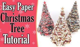 Paper Christmas Tree Tutorial