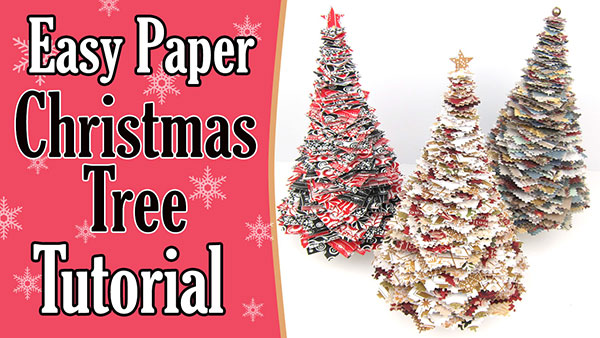Paper Christmas Tree Tutorial