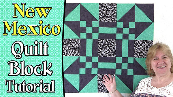 Quilting Block: New Mexico Quilt Block – 30″
