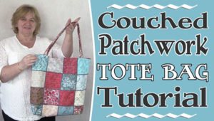Patchwork Tote Bag with Couching – Tutorial
