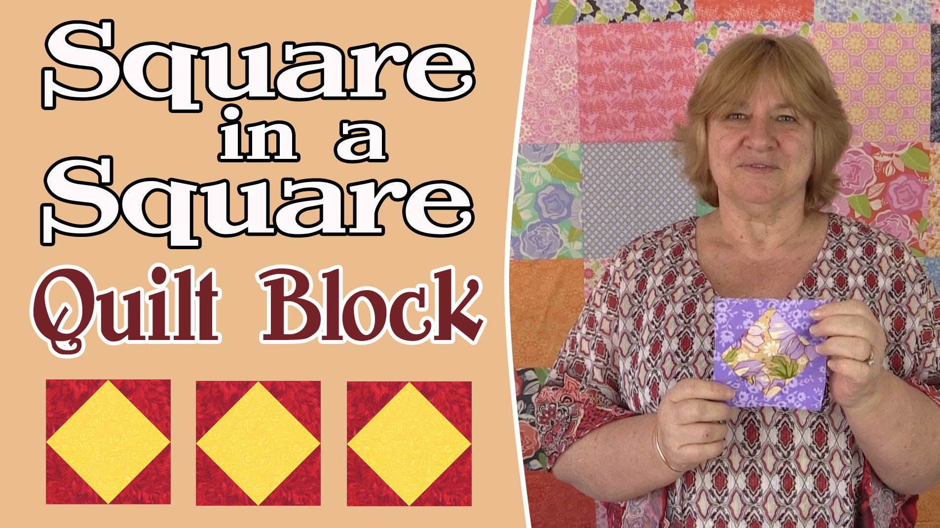 Quilting Blocks: Square in a Square Quilt Block Tutorial