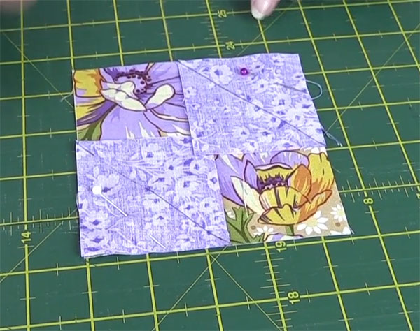 step2: Square in a Square Quilt Block Tutorial