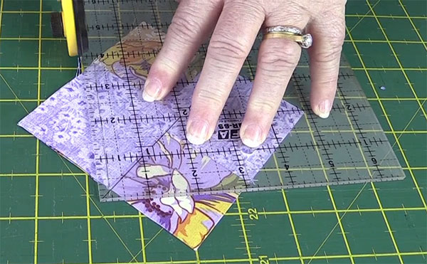 step3: Square in a Square Quilt Block Tutorial