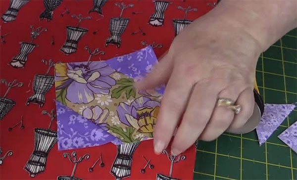 step4: Square in a Square Quilt Block Tutorial