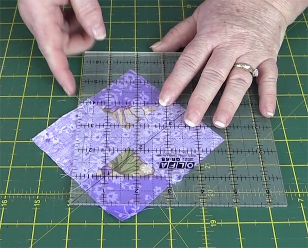 step5: Square in a Square Quilt Block Tutorial