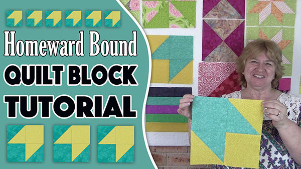 Quilt Block: Homeward Bound Quilt Block Tutorial