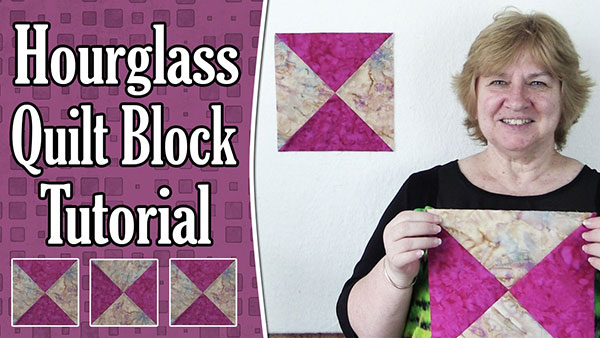 Quilting Blocks: Hourglass Quilt Block – Quarter Square Triangle Quilt Block
