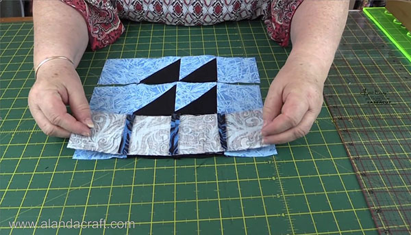 Boat Quilt Block Joining Rows