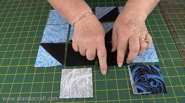 Boat Quilt Block - Joining Squares