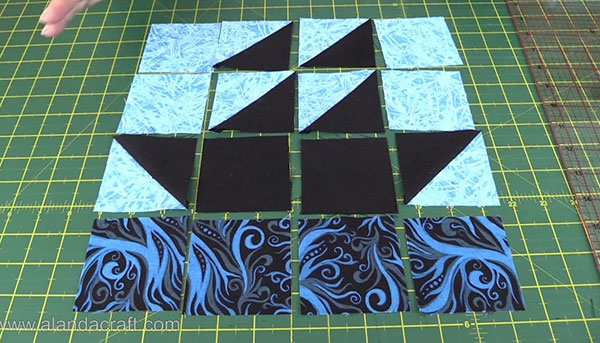 Boat Quilt Block Layout