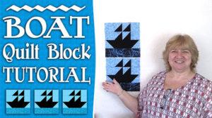 Boat Quilt Block Tutorial