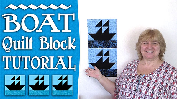 Boat Quilt Block Tutorial