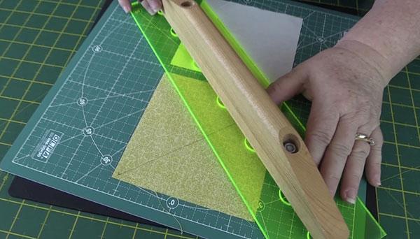 indian summer quilt block small hst