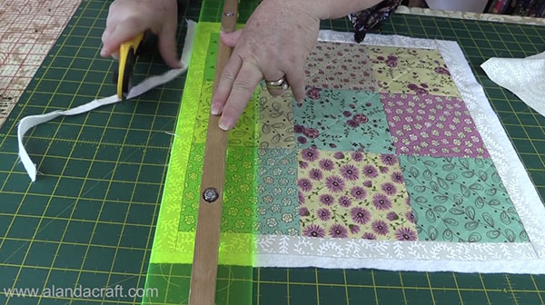 Charm Square Cushion Cover Tutorial