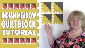 indian meadow quilt block