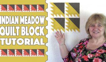 indian meadow quilt block
