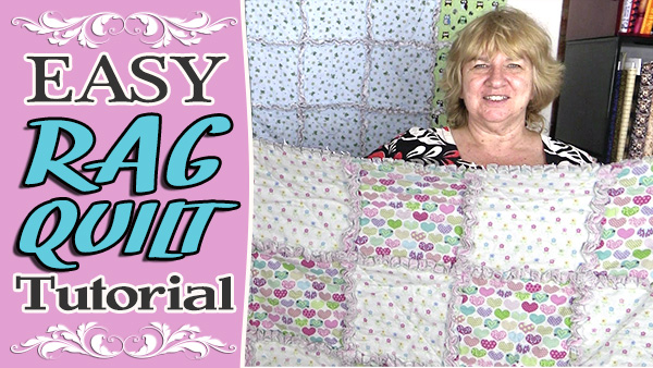 Easiest Ever Rag Quilt Tutorial - Ideal for Beginners - Alanda Craft : easiest quilt ever - Adamdwight.com