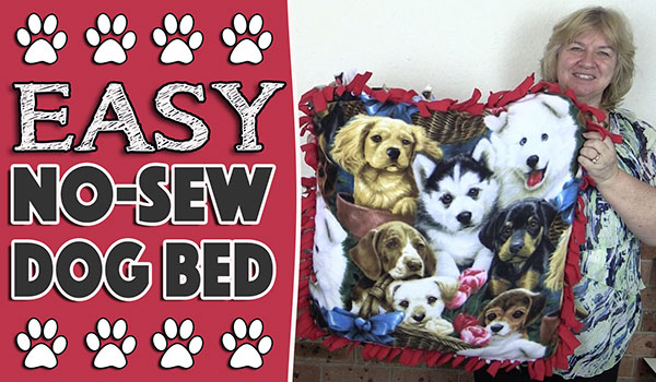 No Sew Dog/Cat Bed